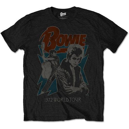 David Bowie - 1972 World Tour (tricou unisex)