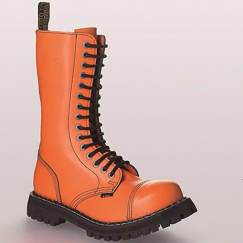 Bocanci rock STEEL - 15 inele (portocalii)