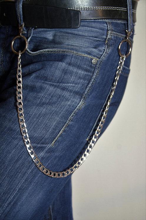 Lanț pentru pantaloni simplu, cu 2 carabine metalice