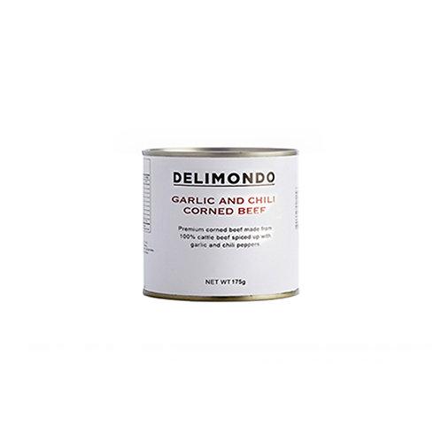 Delimondo Garlic & Chili Corned Beef 175g