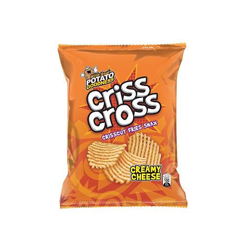 Criss Cross Crisscut Fries Snax Creamy Cheese 65g