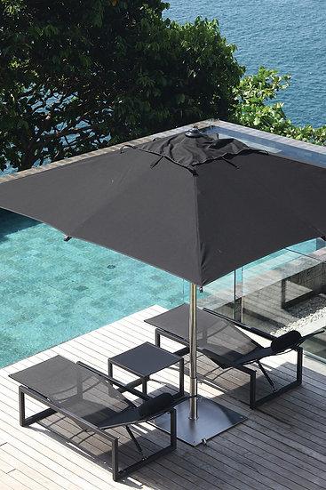 ROYAL BOTANIA - SHADY parasol  3 x 4 m - Gris foncé