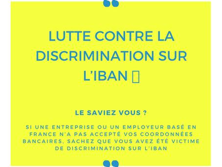 Lutte contre la discrimination sur l'IBAN