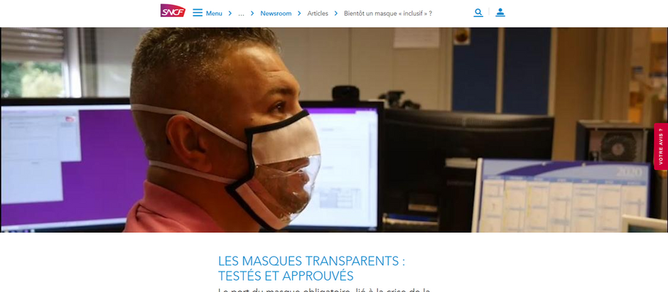"""Les masques """"You & Me"""" adoptés par la SNCF"""