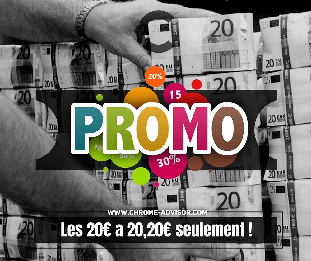 Promotion sur les billets de 20€ !