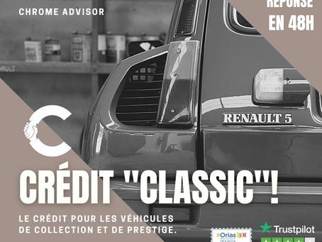 Financer votre voiture de collection