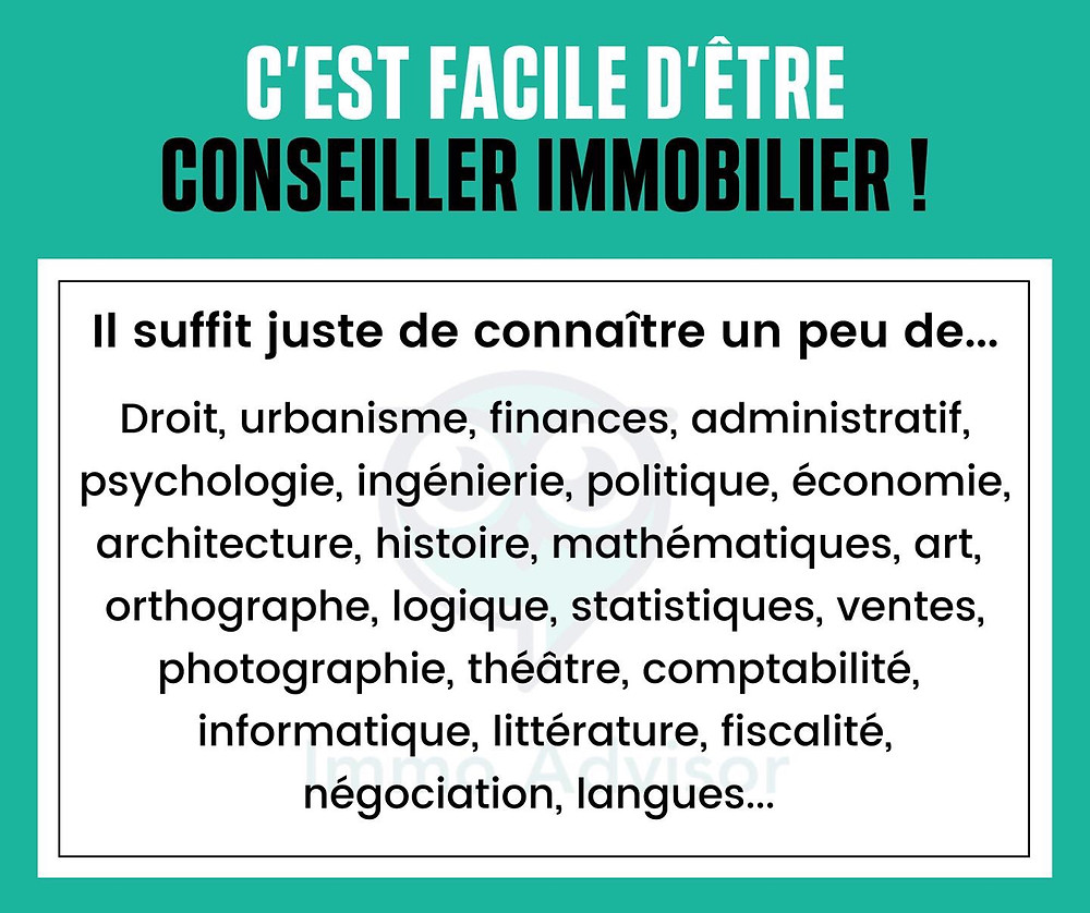 Humour agent immobilier