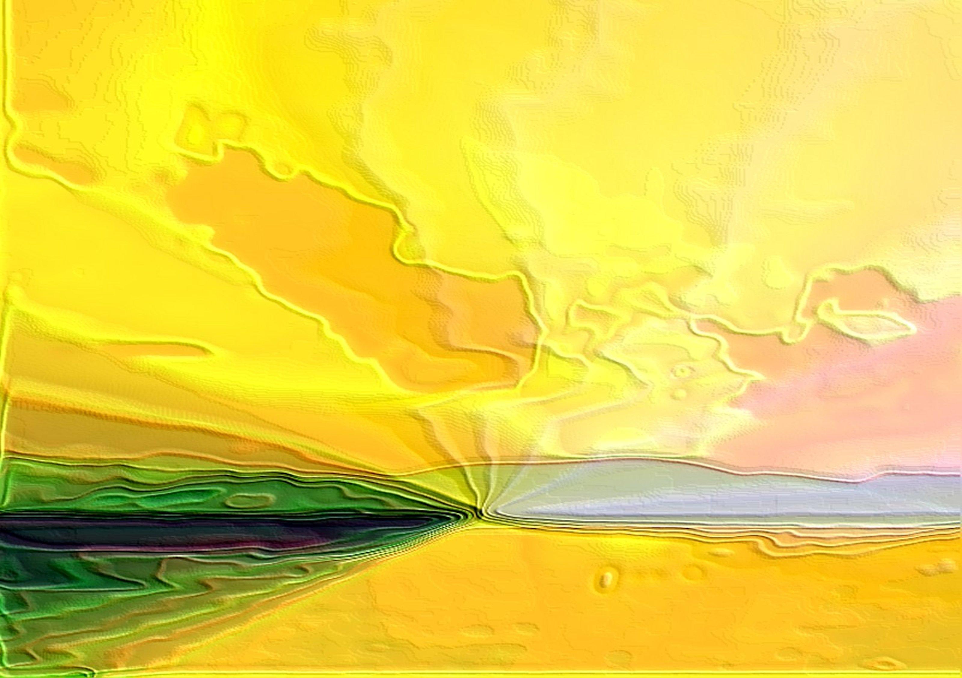Yellow green island