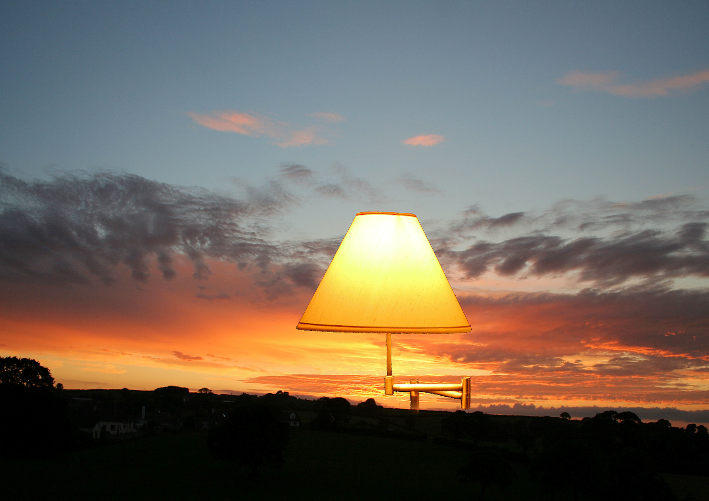 Lamp sunset