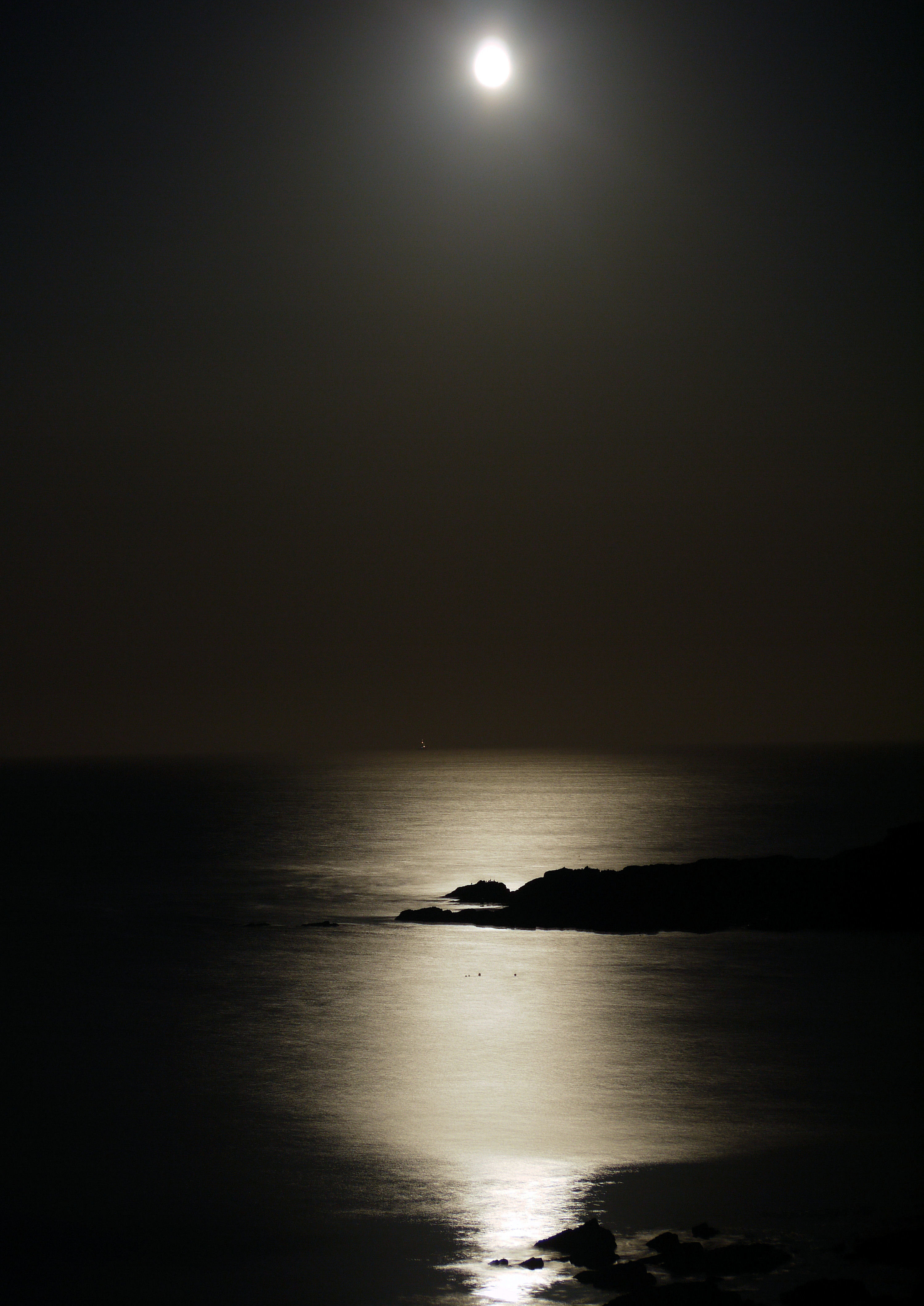 Moon over sea 5