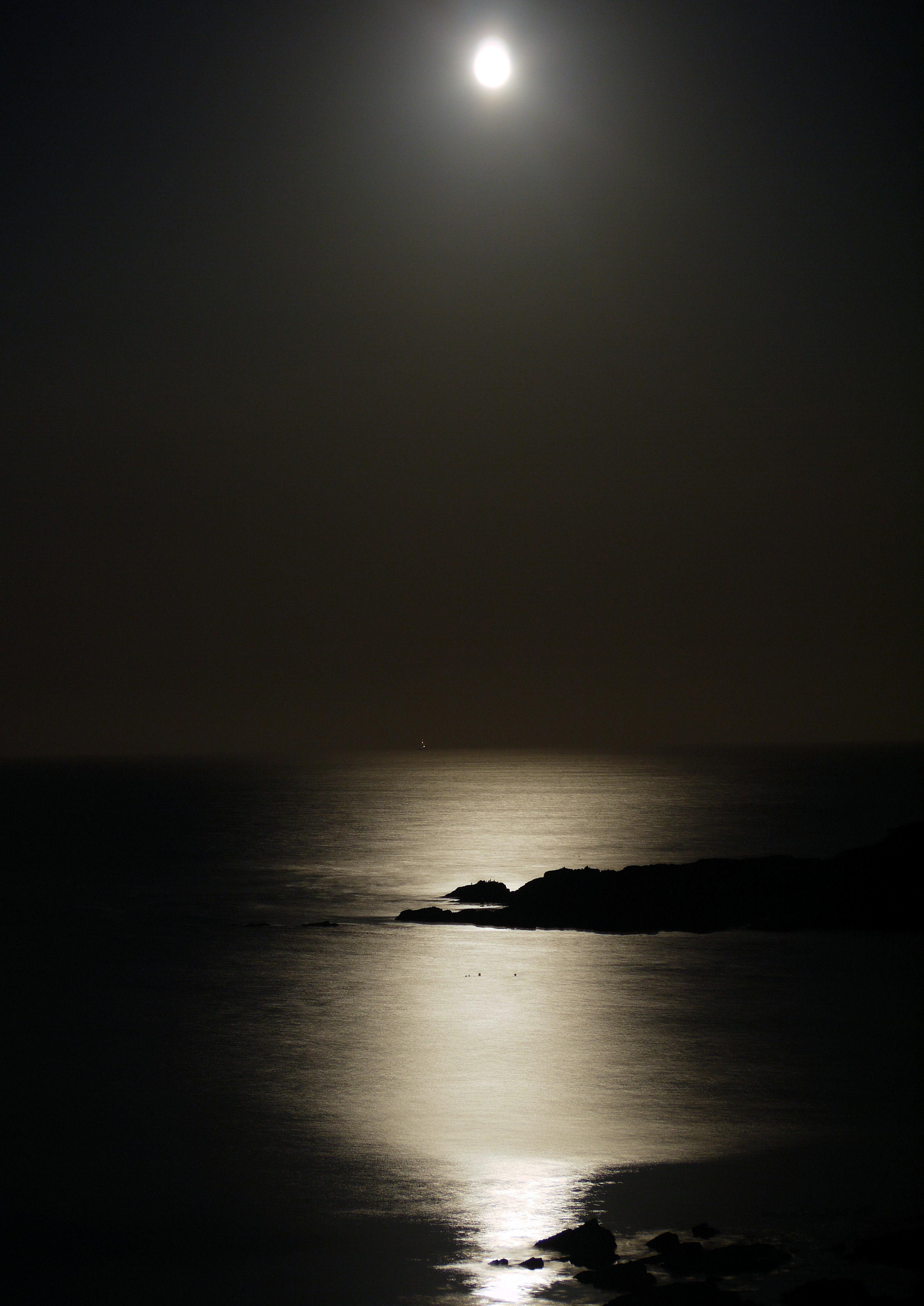 Moon over sea 5
