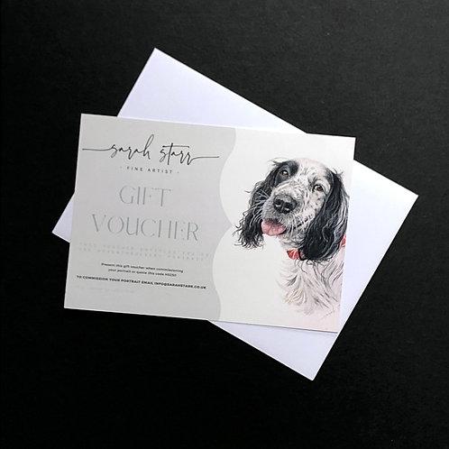 Head & Shoulders Pet Portrait Gift Voucher