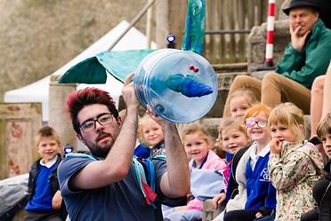 Bottle fish puppet