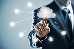 futuristic display_ Cloud computing   to