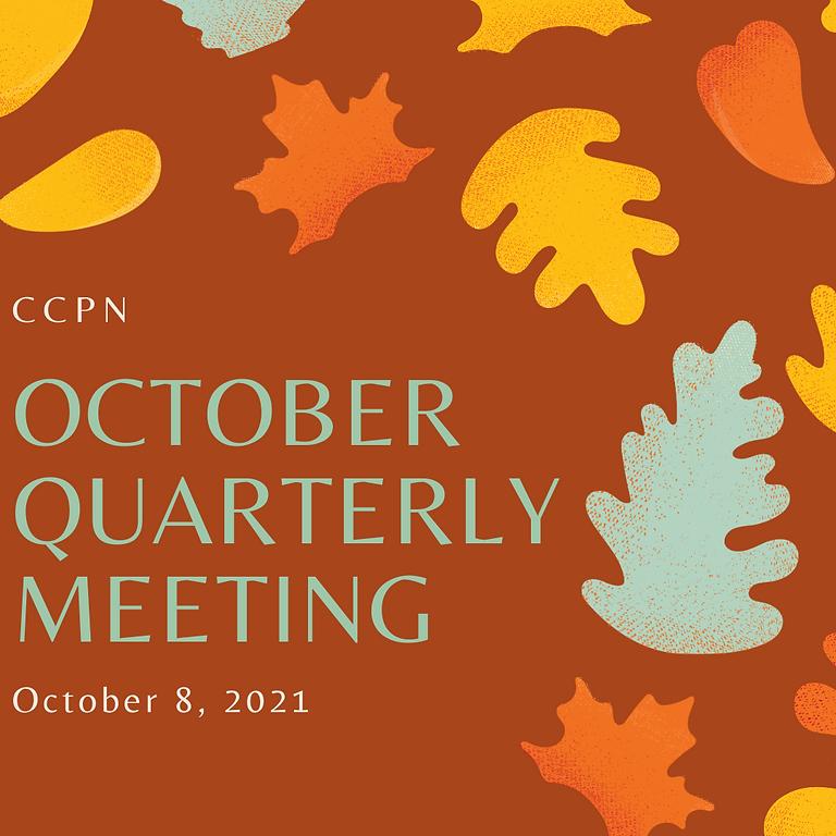 October 2021 Quarterly Meeting