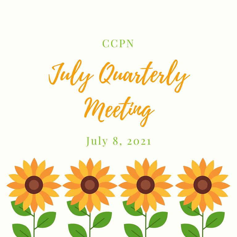 July 2021 Quarterly Meeting