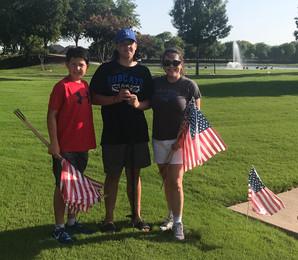 July 4th Flag Planting