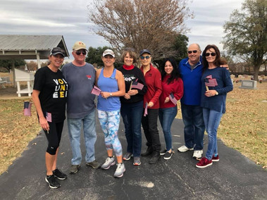 Planting Flags for Wreaths Across America 2019
