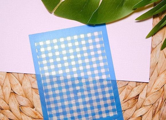 Mini Silkscreen Plaid/Checker Pattern Stencil