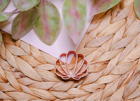 Sea Shell Embossed Polymer Clay Cutter