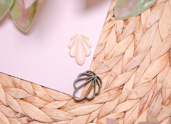 Art Deco Inspired Embossed Polymer Clay Cutter