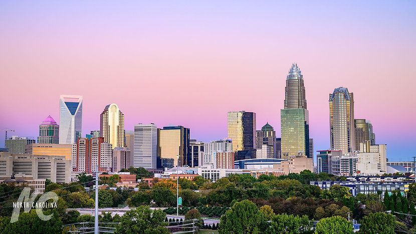 Charlotte-Skyline-with-Gradient-Sunset.j