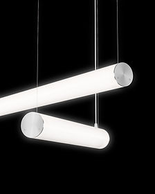 Produto iluminação Tromilux luminárias candeeiros tubulares com 360º de emissão de luz suspensas horizontal ou vertical