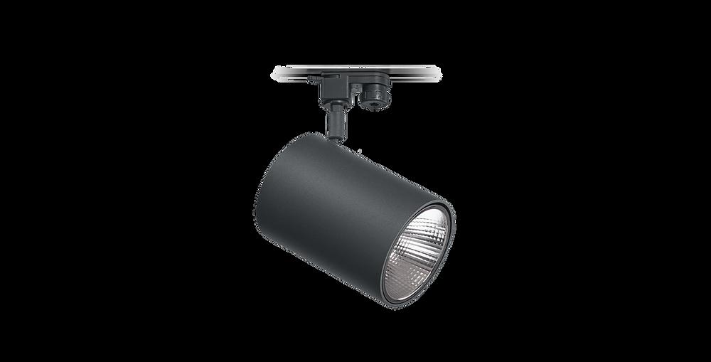 Tromilux iluminação fabricante português candeeiro orientável preto branco com adaptador de calha trifásica