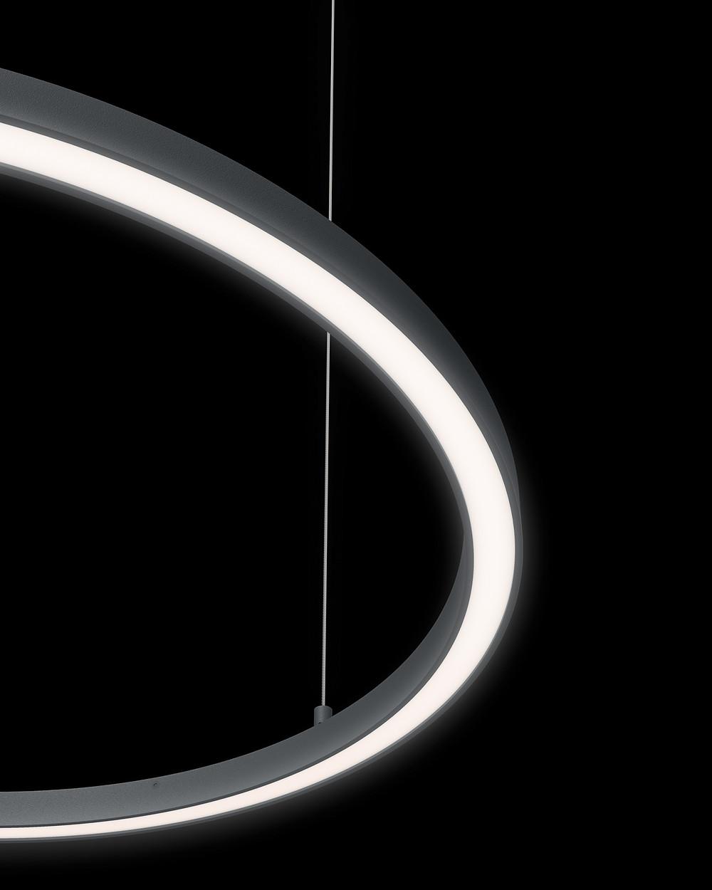 Donut Slim Iluminação Tromilux marca nacional fabricante portugues luminaria candeeiros suspenso circular redondo perfil aluminio fino em LED