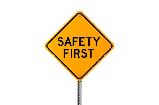 aviso segurança em primeiro lugar LEDs seguros