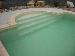 renovation liner escalier piscine