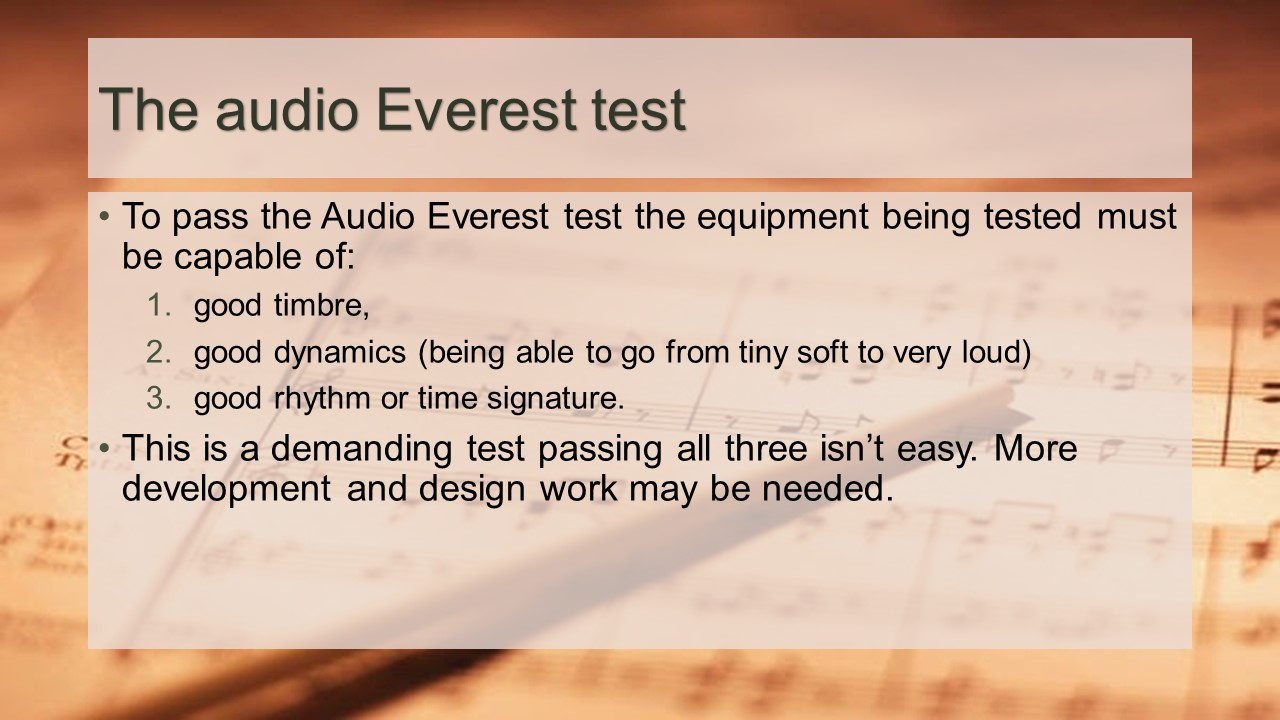 Audio Everest test