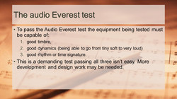 Audio Everest test