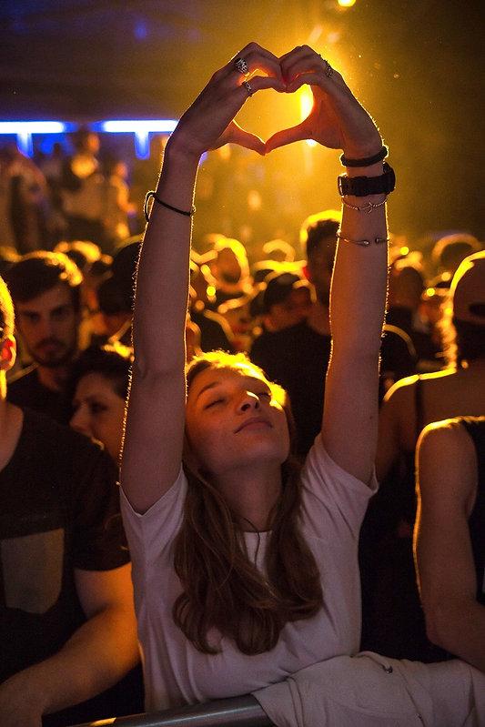 girl loving the music