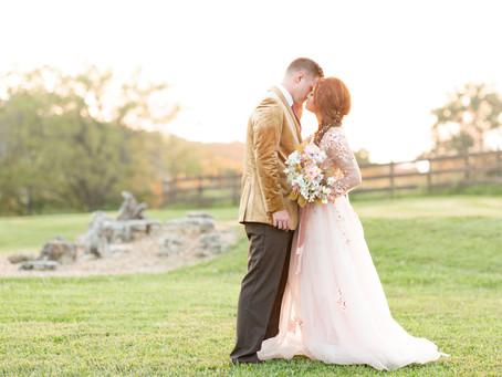 Hannah and Austin's Styled Wedding at Hope Springs Farm