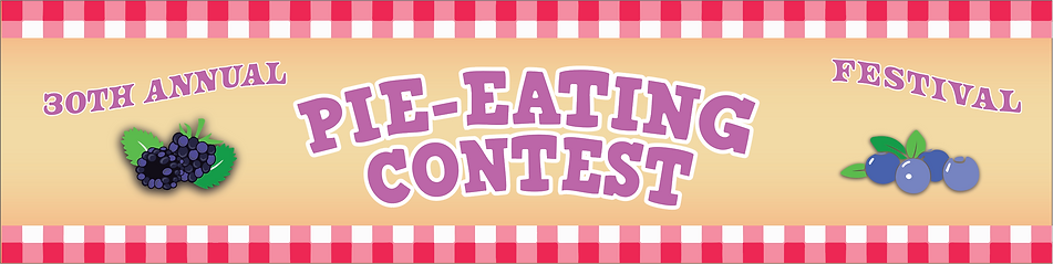Pie Eating Contest Banner Layout Example