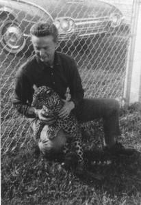 Erickson & pet leopard Henry