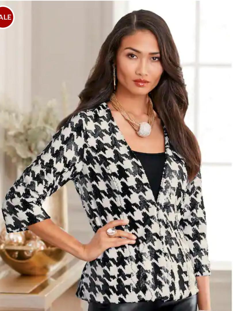 Printed Sequin Jacket