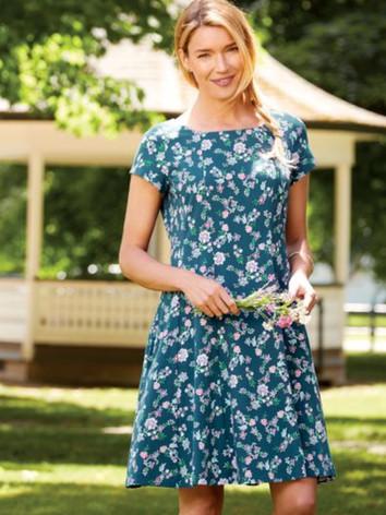 Ella Simone Fit-and-Flare Cotton Knit Dress