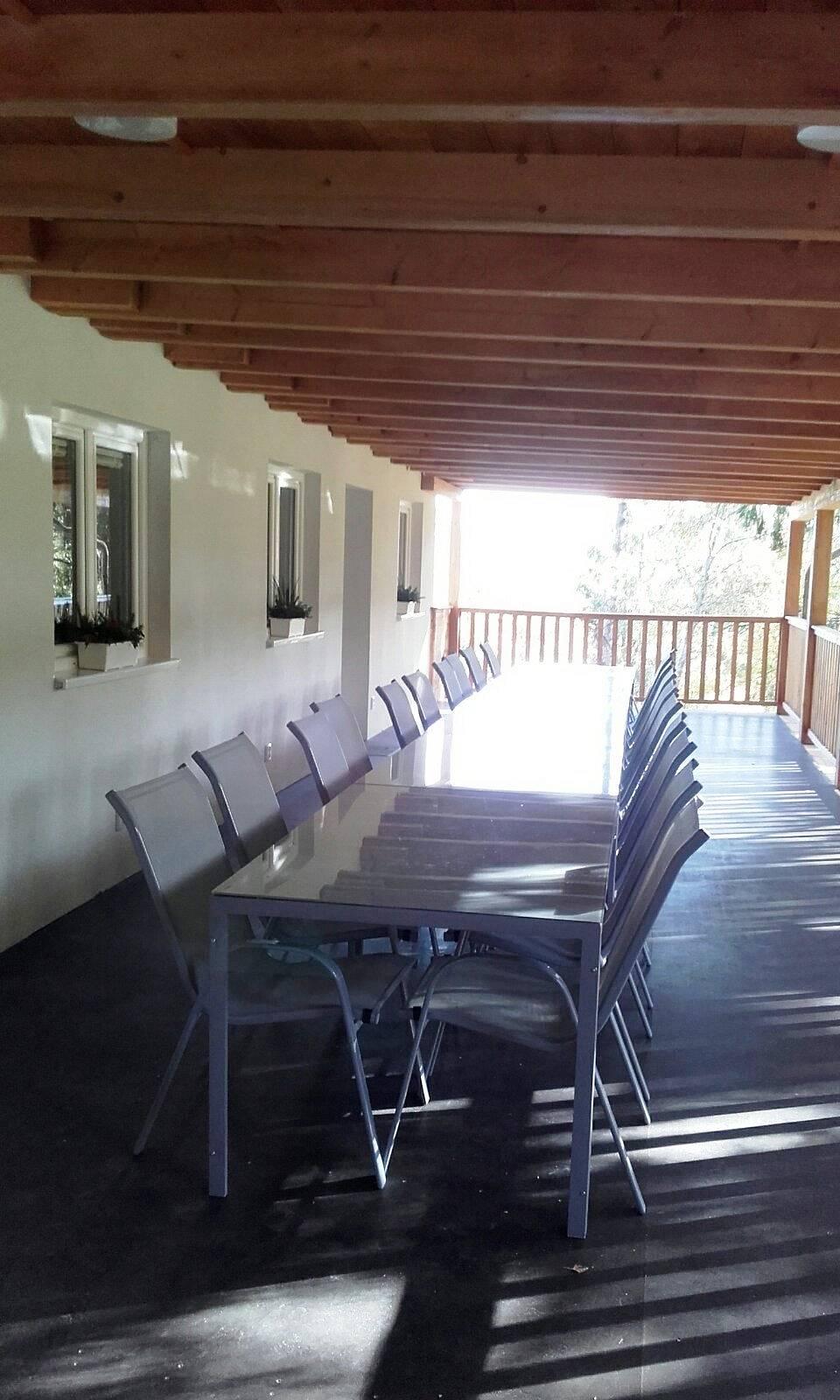 krytá terasa 15x4 m 60 m2