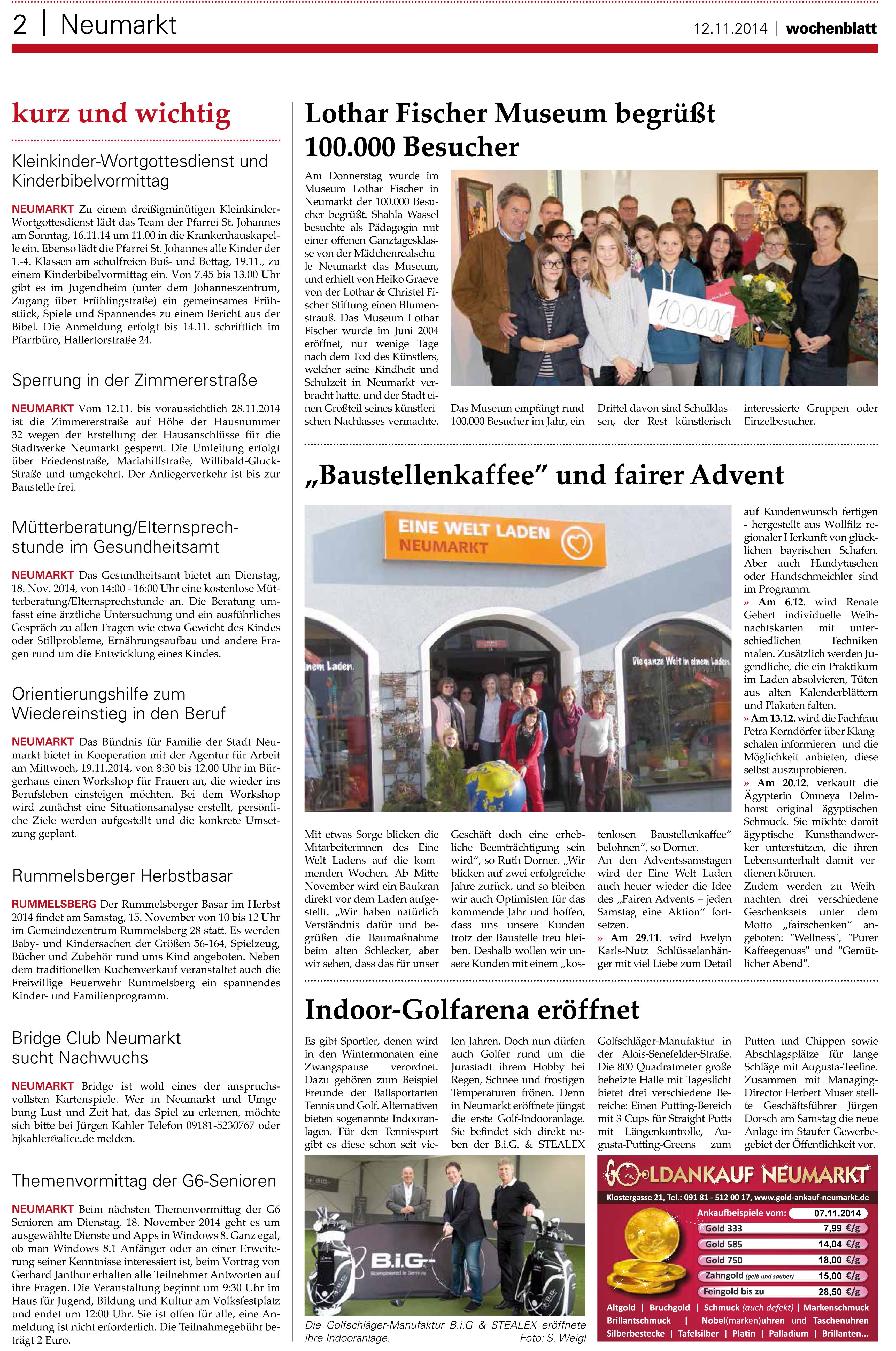 Neumarkter Wochenblatt