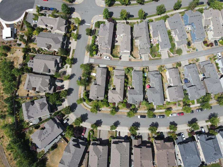 Aerial Neighborhood Shot