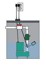 sump pump drawing with float switch