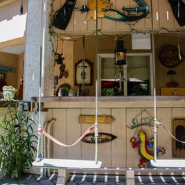 Bar with handmade swings