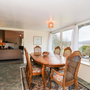 Dining room with uninterrupted views of the loch
