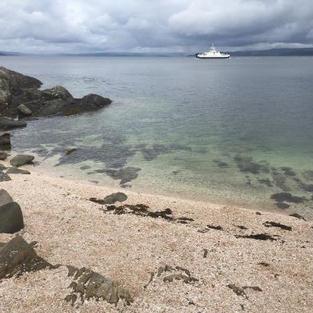 Shell beach in Tarbert