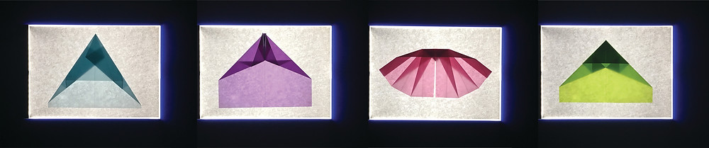 Four paper airplanes