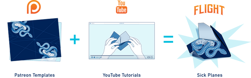 How to make paper airplanes with Foldable Flight template