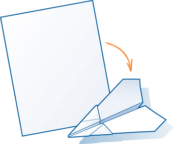 Paper air plane folding