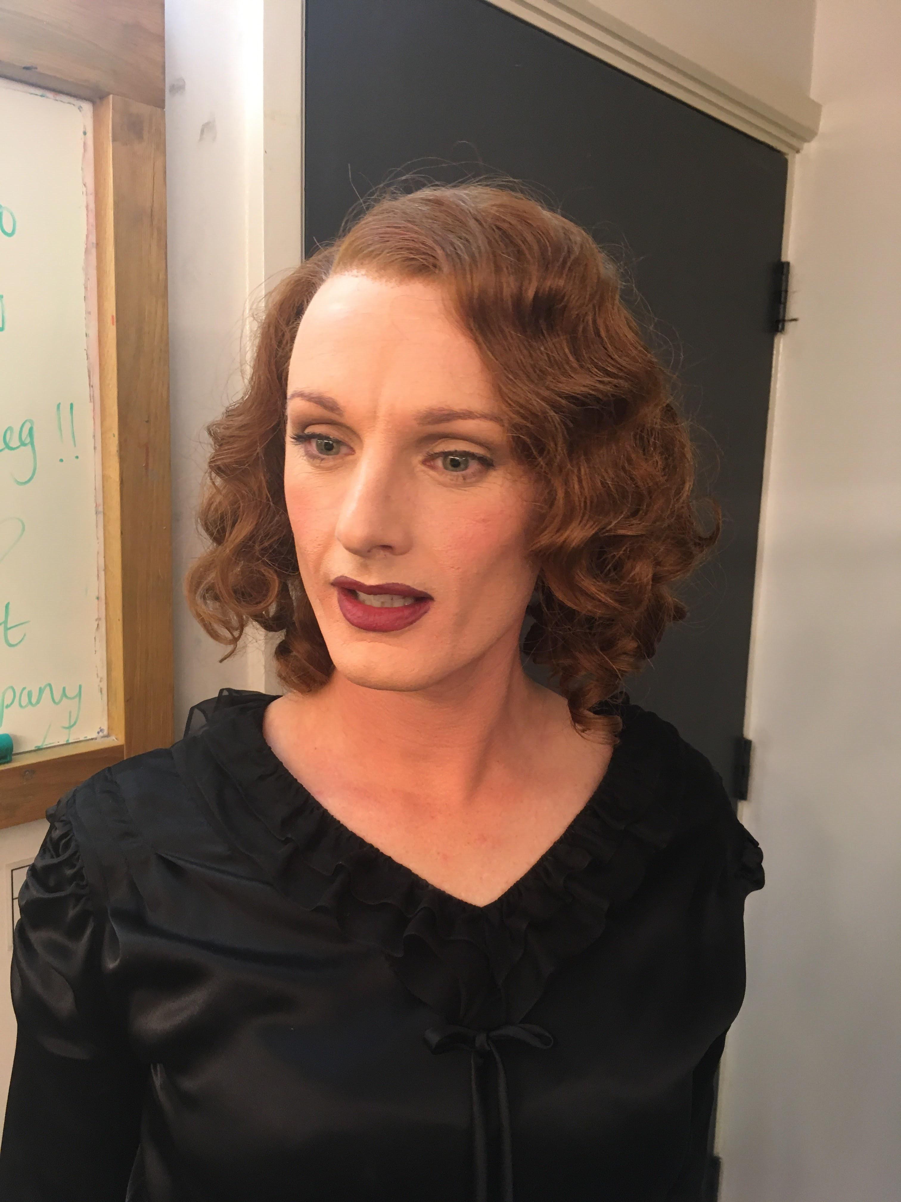 Transgender. 1930's Wig styling.